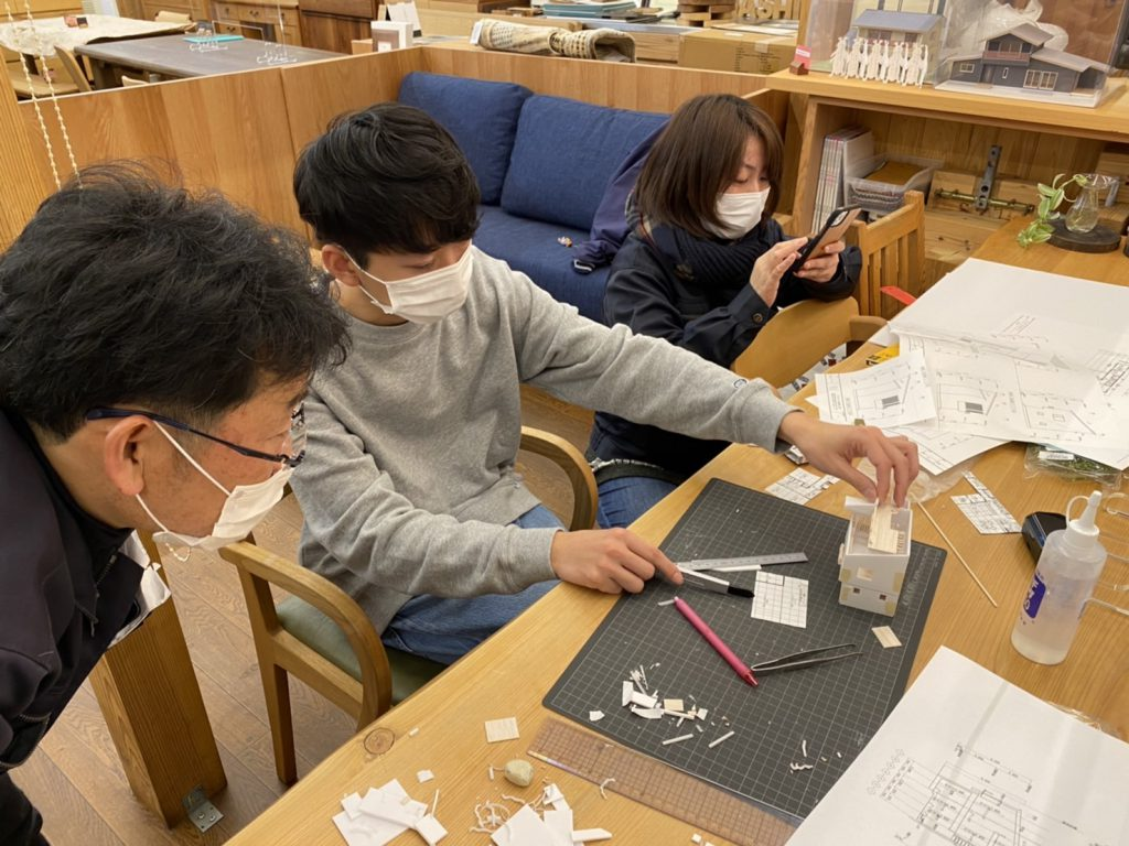 注文住宅の模型を製作中です。